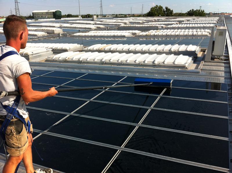 pulizia pannelli fotovoltaici consorzio zai verona