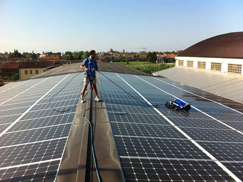 manutenzione e pulizia pannelli fotovoltaici