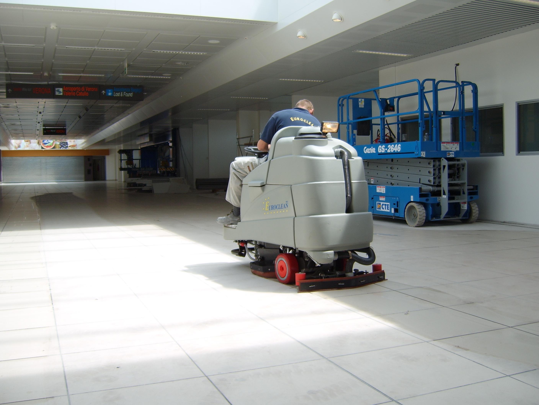 pulizie post-cantiere aeroporto di Verona
