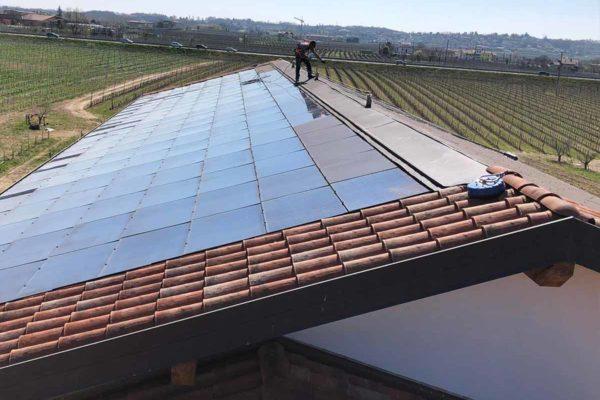 pulizia impianto fotovoltaico
