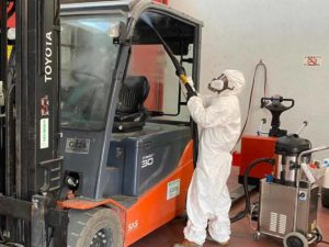 Covid-19 Sanificazione mezzi di lavoro