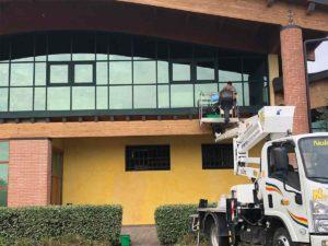 Pulizia delle vetrate esterne